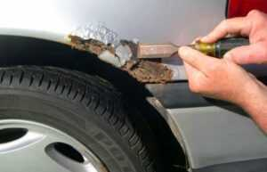 Подготовка к ремонту кузова автомобиля